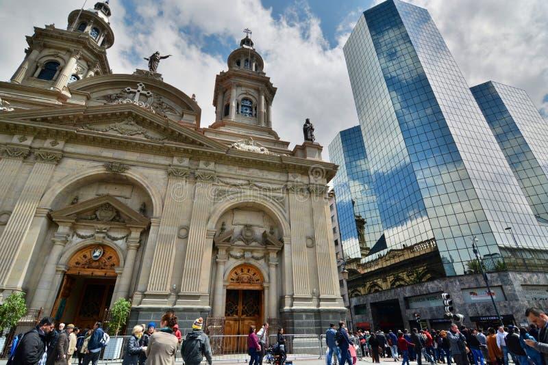 armas de plaza santiago chile royaltyfri bild
