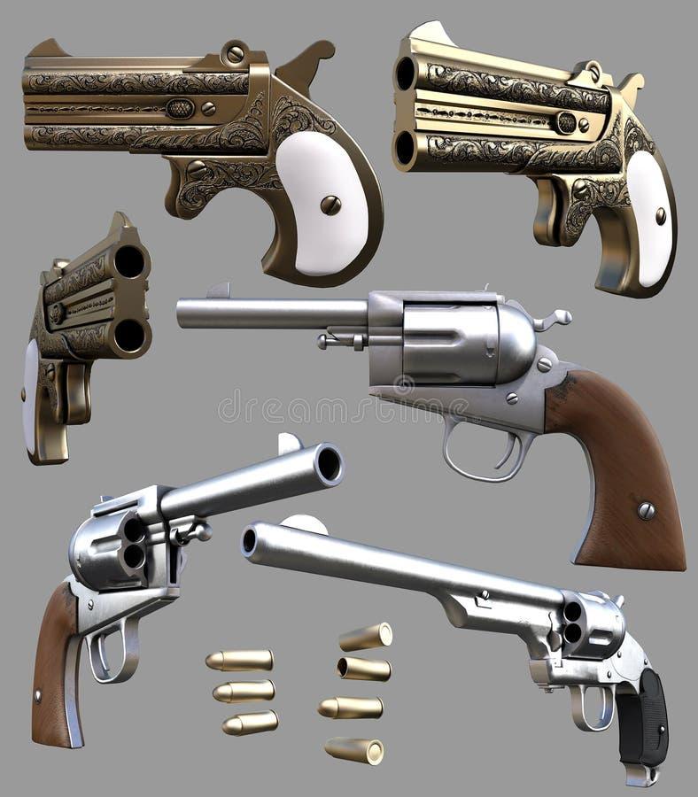 Armas del vaquero stock de ilustración