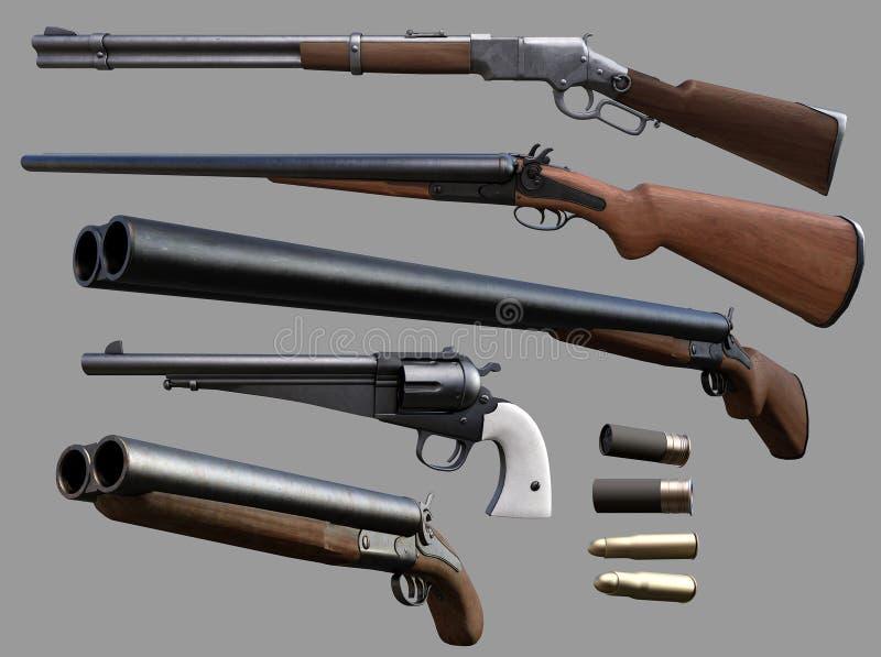 Armas del vaquero ilustración del vector