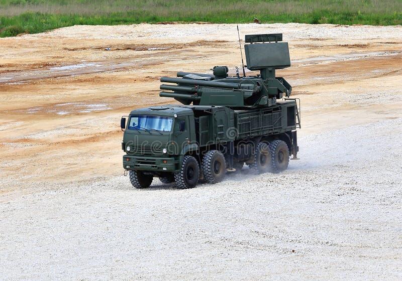 Armas do anti sistema de defesa dos aviões fotografia de stock