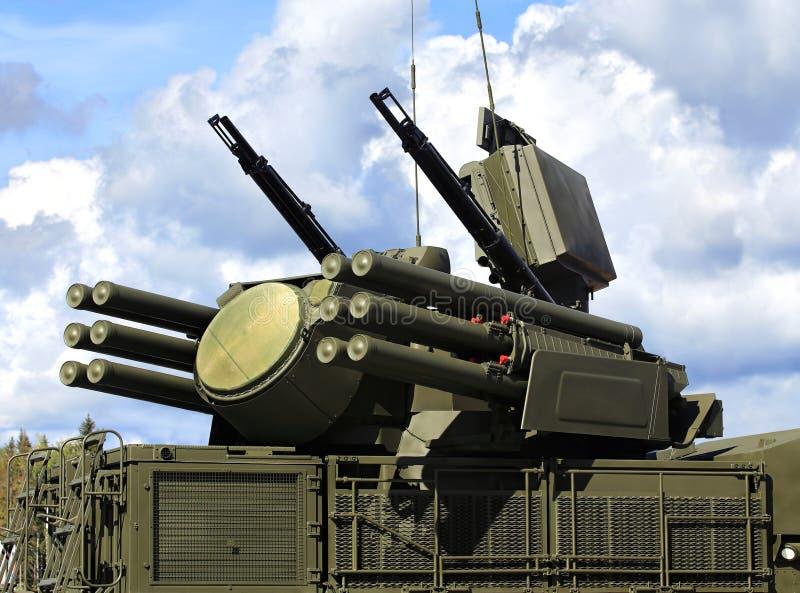 Armas do anti sistema de defesa dos aviões & do x22; Pantsir S1& x22; fotografia de stock