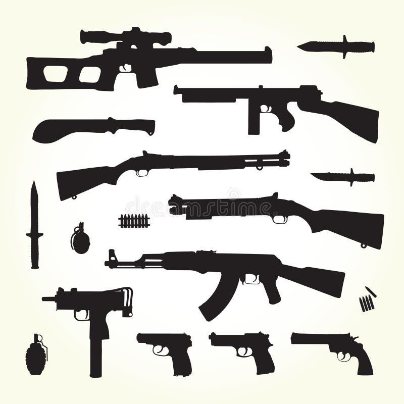 Armas do exército ilustração do vetor