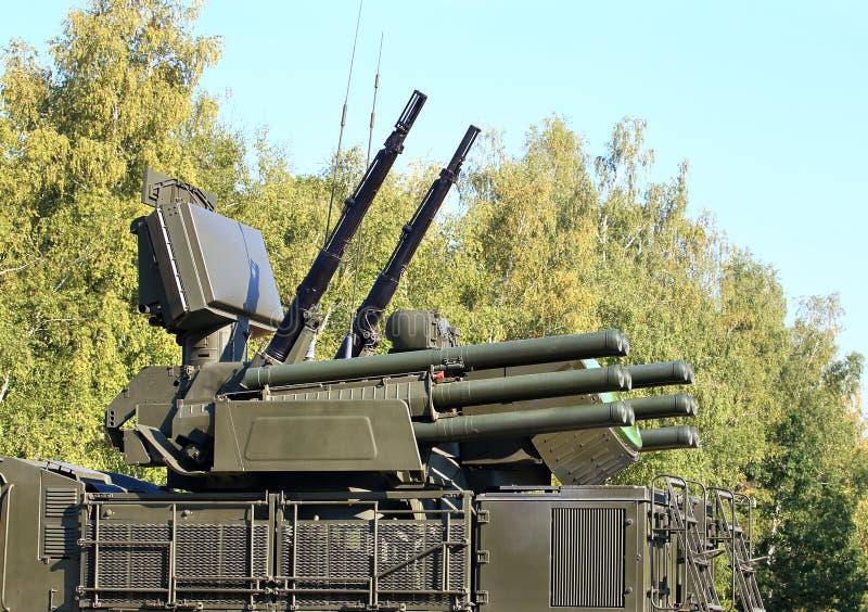 Armas do sistema de defesa antiaérea imagens de stock