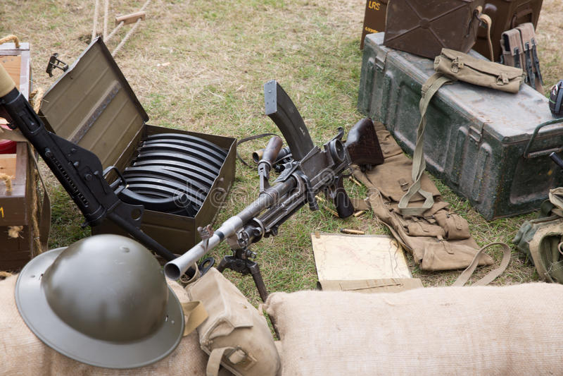 Armas e balas fotografia de stock