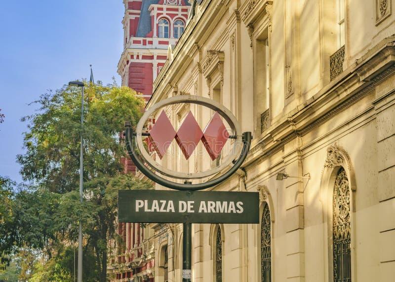 Armas Square Metro Station, Santiago de Chile royalty free stock photos