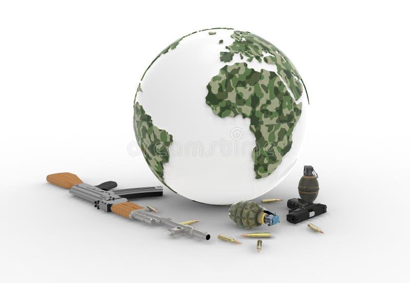Armas y mundo ilustración del vector