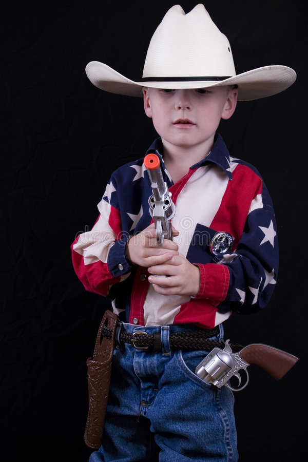 Armas y vaqueros foto de archivo libre de regalías