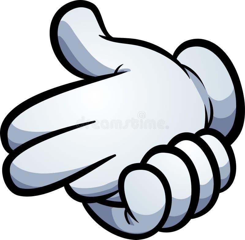 Armatni ręka znak robić z kreskówek rękawiczkami royalty ilustracja