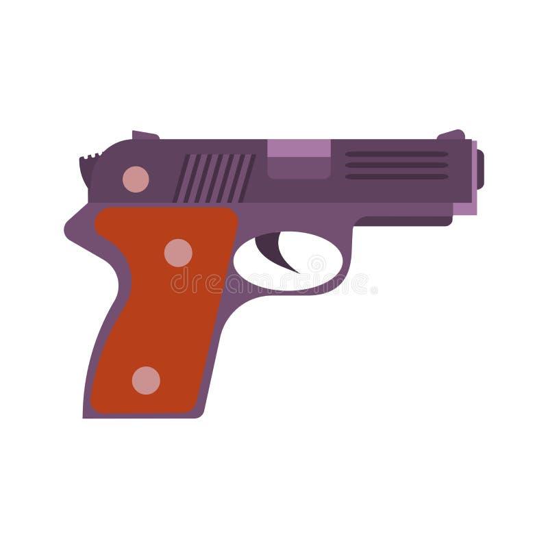 Armatni wektorowy ilustracyjny pistoletowy pistolecik odizolowywał ikona bielu weapo royalty ilustracja