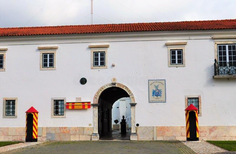 Armatnia brama w kwaterach głównych Żadny pułk kawalerii 3 - Smoki Olivença zdjęcia royalty free