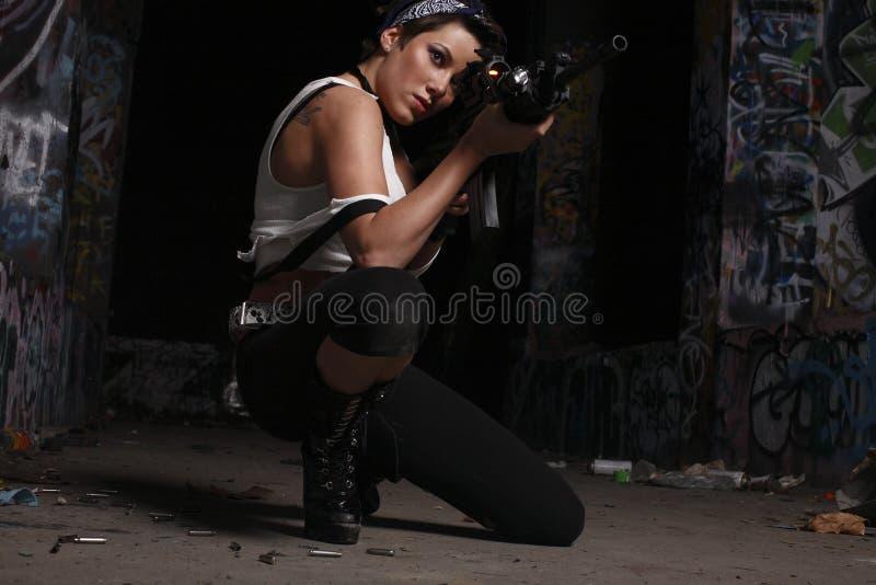 armatnia seksowna kobieta zdjęcie stock