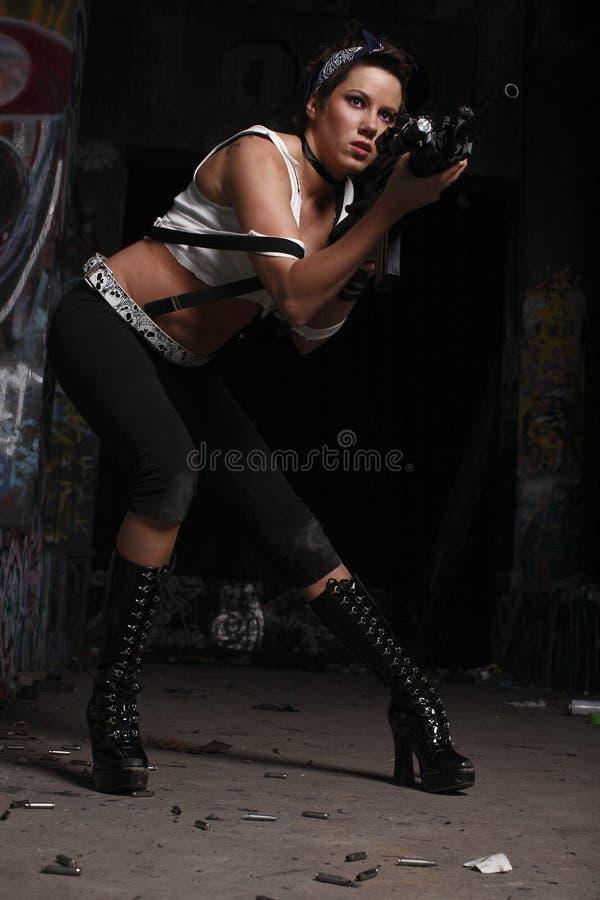 armatnia seksowna kobieta fotografia stock