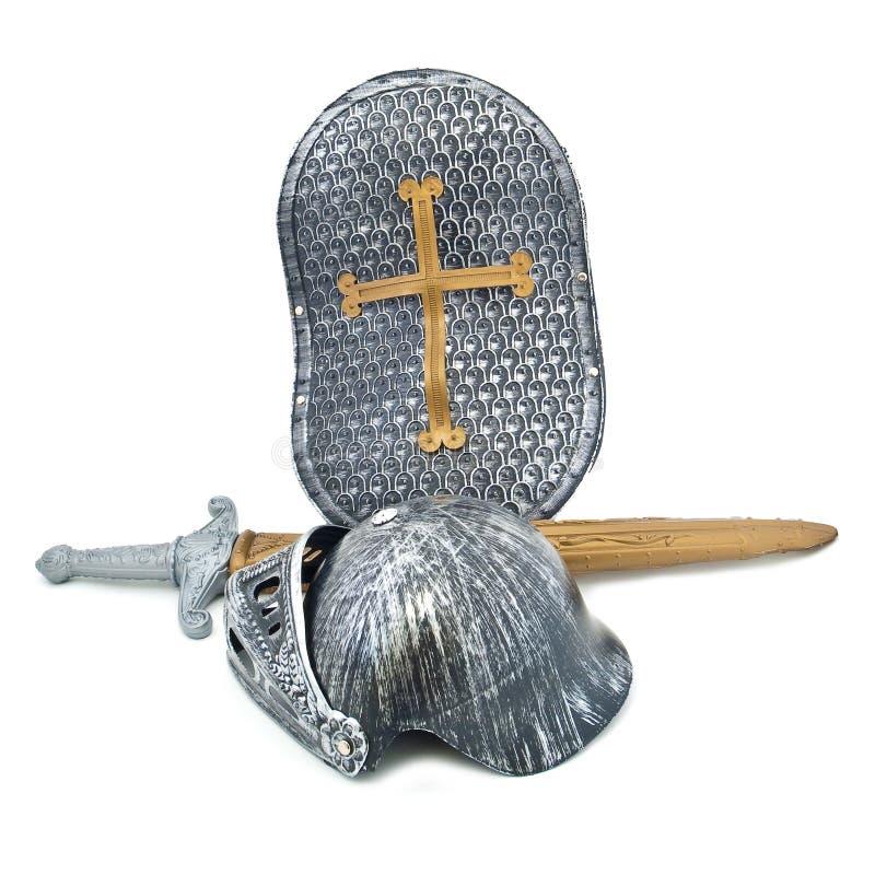 Armatura del giocattolo del cavaliere immagine stock
