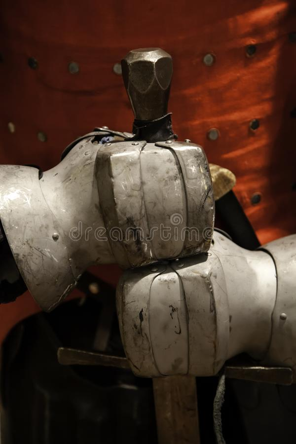 Armatura medievale delle spade fotografia stock libera da diritti