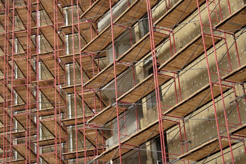 Armatura sulla costruzione di appartamento immagine stock