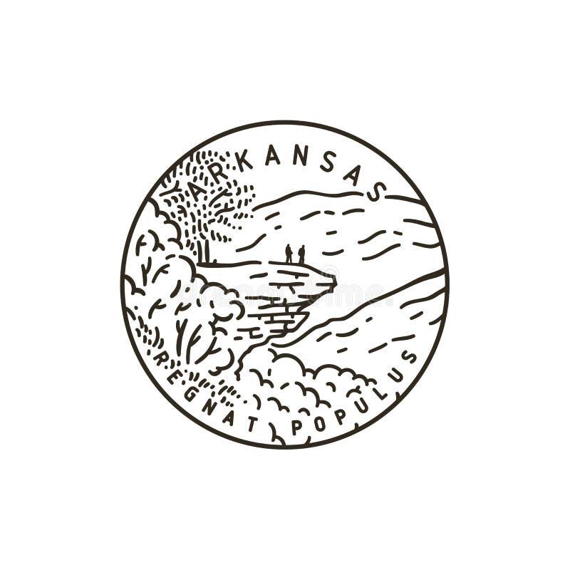 armature Национальный лес Ozark иллюстрация штока
