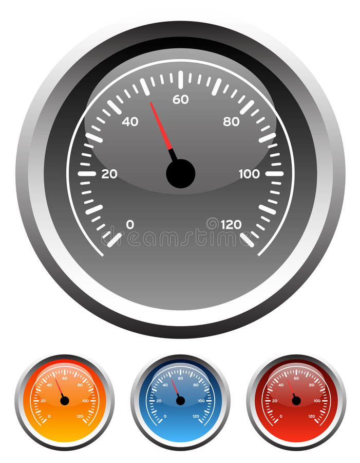 Armaturenbrettgeschwindigkeitsmesserlehren vektor abbildung