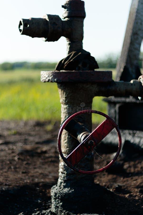 armatury przemys? gazowy oleju klapy wellhead Grupowi wellheads i klapy armatura zdjęcia royalty free