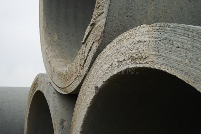 Armazém concreto da fábrica da tubulação fotos de stock