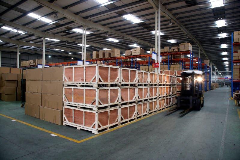 Armazém de Chongqing Minsheng Logistics Auto Parts fotografia de stock