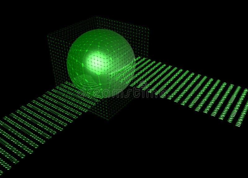 Armazém de dados da base de dados ilustração do vetor