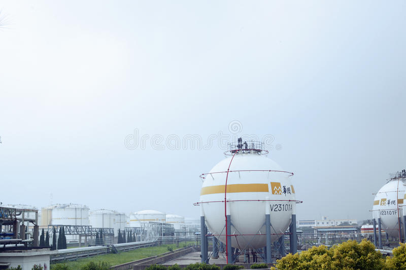 Armazém do gás natural imagens de stock