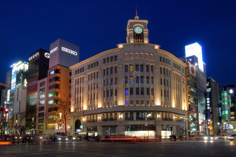 Armazém em Ginza, Tokyo de Wako, Japão fotos de stock