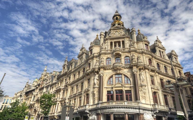 Armazéns em Antuérpia, Bélgica foto de stock royalty free