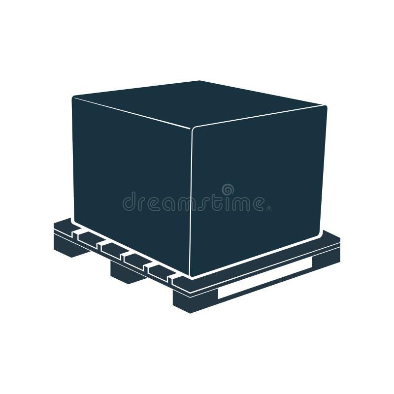Armazenamento da carga da caixa da embalagem do transporte da caixa de pálete ilustração royalty free
