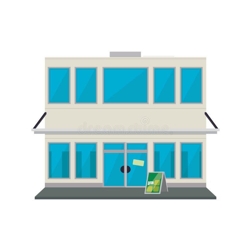 Armazene a construção de loja ilustração stock