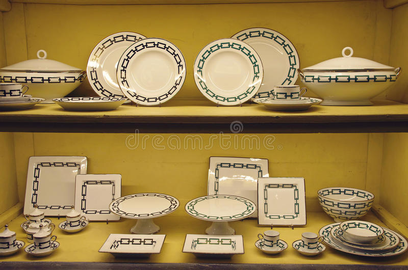 Armazene a exposição da cerâmica imagem de stock