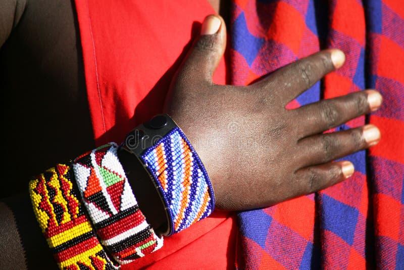 Armband op Strijder Masai royalty-vrije stock afbeelding