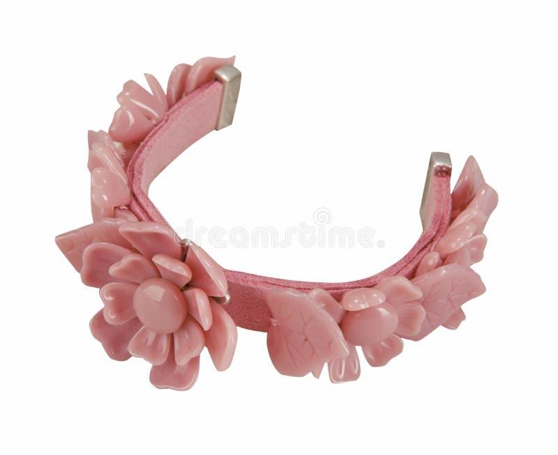 armbandet blommar pink fotografering för bildbyråer