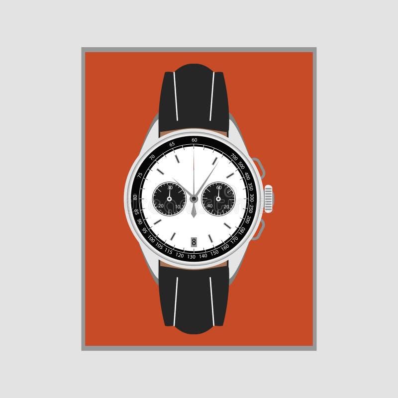 Armbandsur f?r man` s royaltyfri illustrationer