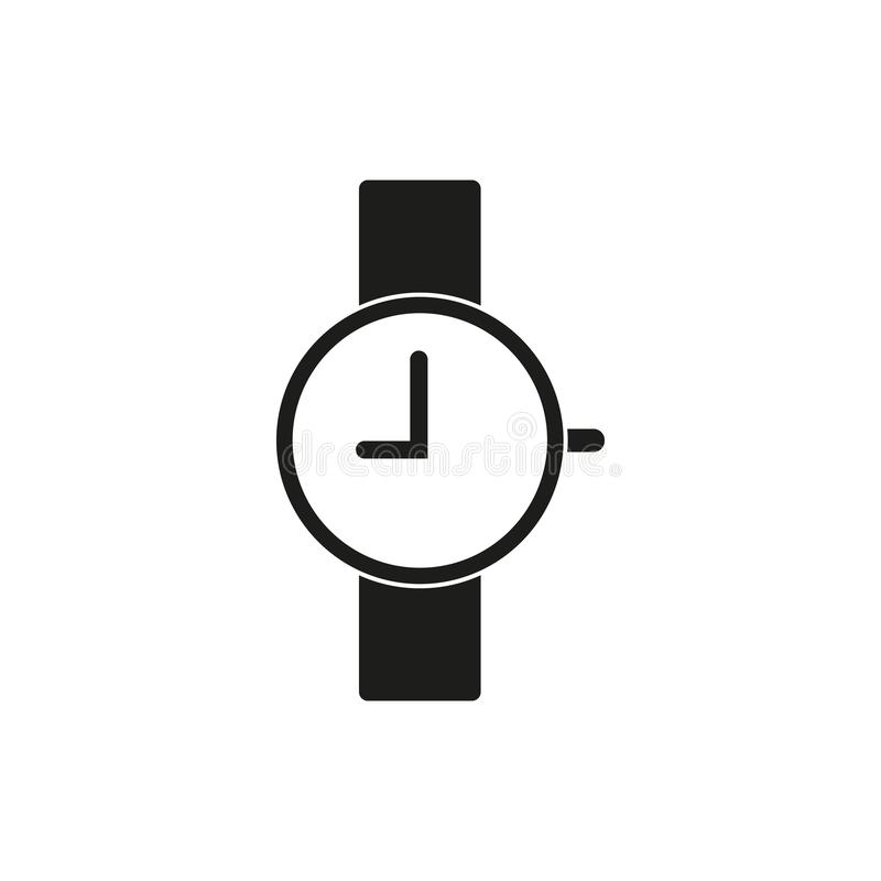 Armbandsursymbol, nio klockan vektor illustrationer