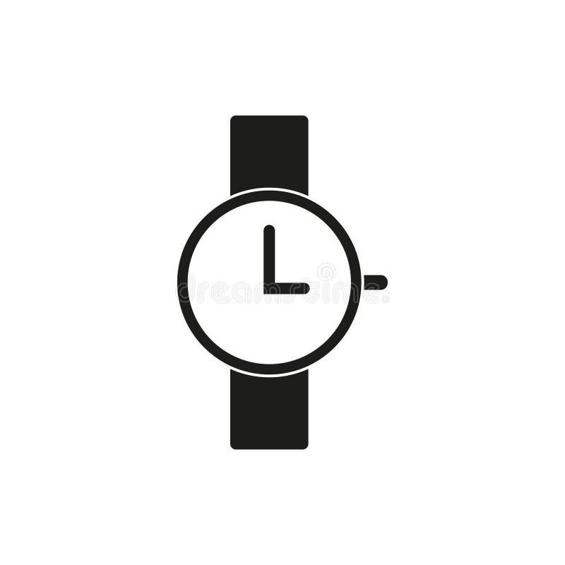 Armbandsursymbol, tre klockan royaltyfri illustrationer
