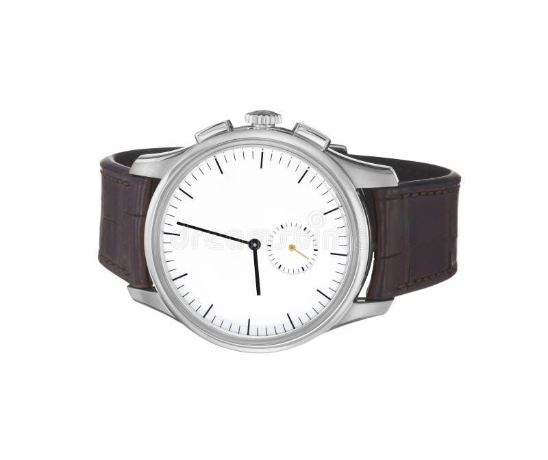 Armbanduhr getrennt auf Weiß stockbild