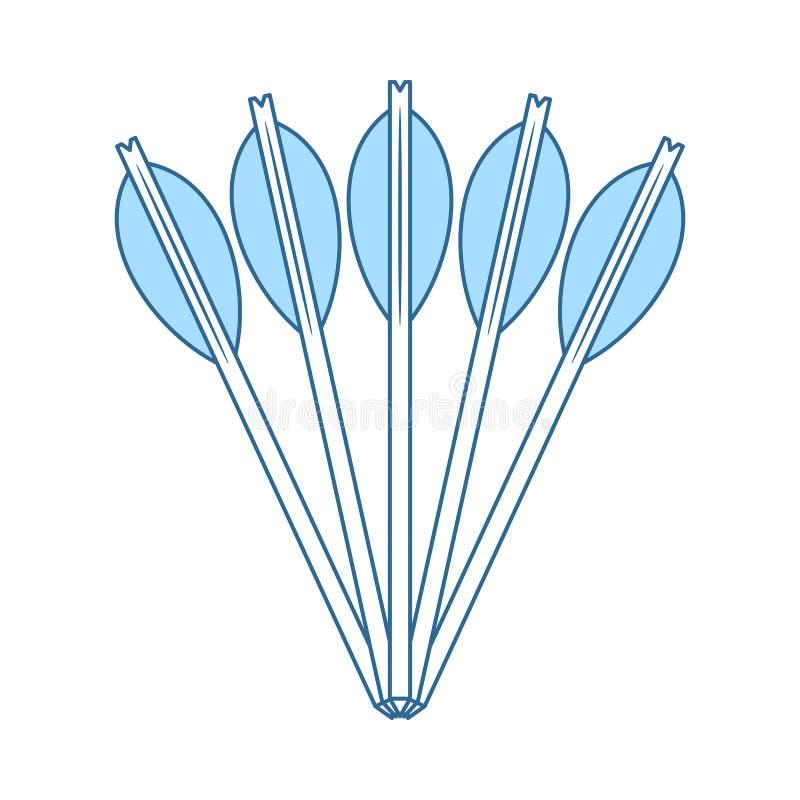 Armbrustbolzenikone vektor abbildung