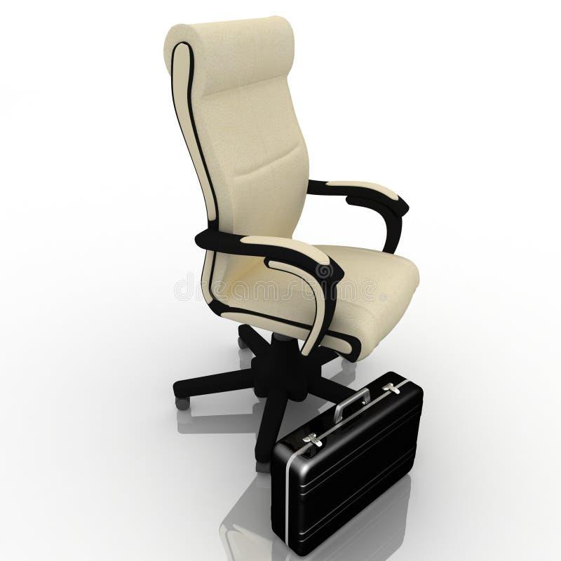 Armchair. Office armchair and business briefcase stock photos
