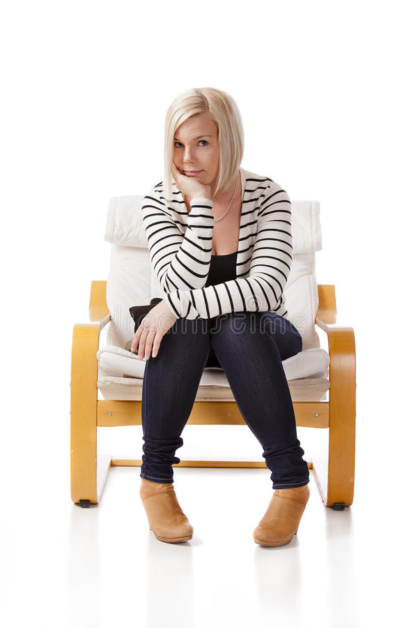Download In the Armchair stock photo. Image of pretty, copyspace - 23721878