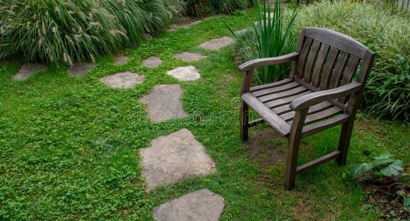 Armchair. In the botanical garden stock image