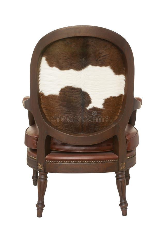 Armchair With Cow Skin Stock Photos