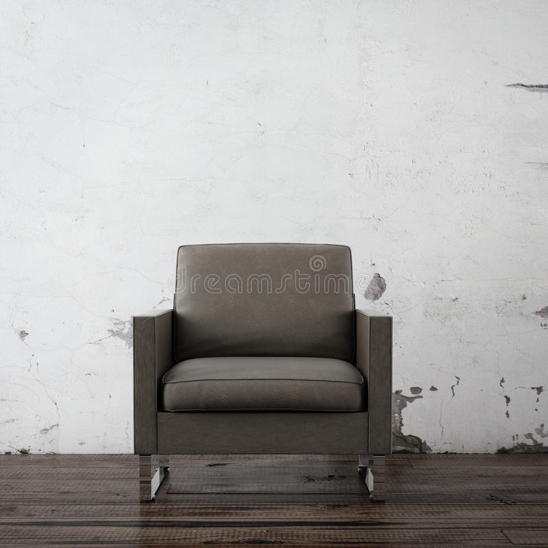 Download Armchair in empty room stock illustration. Image of lifestyle - 28697419