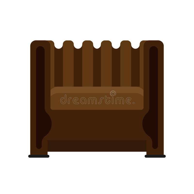 Armchair front view vector illustration interior furniture. Isolated rliving room cartoon icon. Flat indoor simple sit vector illustration