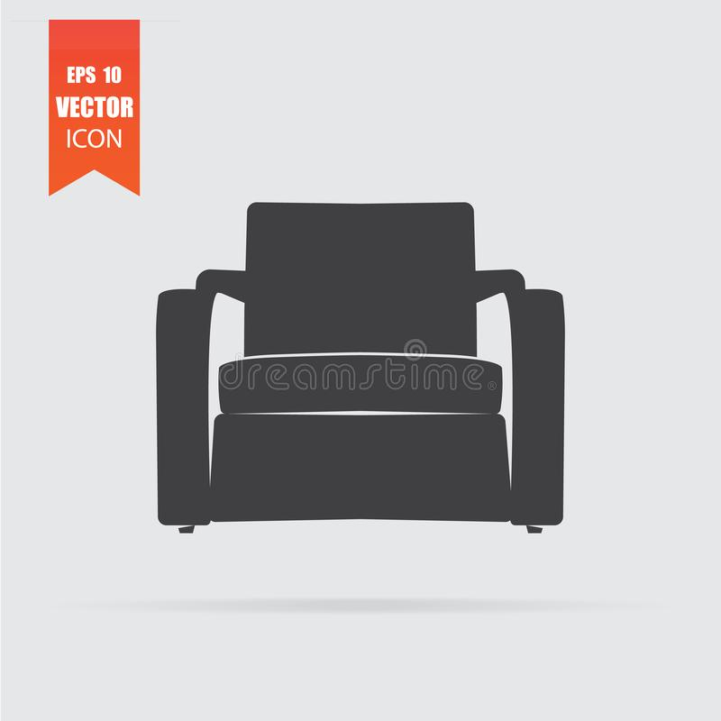 Armchair icon in flat style isolated on grey background. For your design, logo. Vector illustration vector illustration