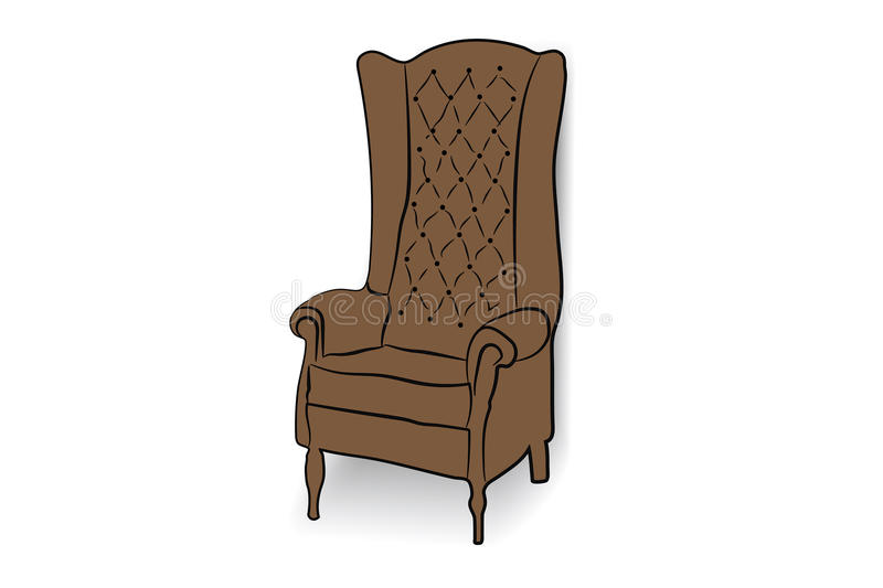 armchair leather royal 库存图片