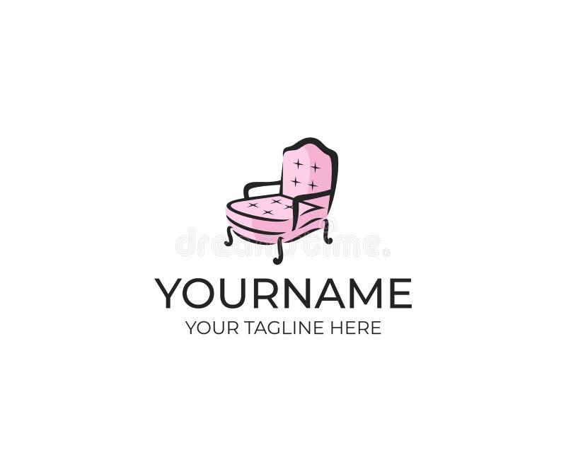 vintage furniture logo. Plain Vintage Download Armchair Logo Template Furniture Vector Design Stock   Illustration Of Comfortable Logo For Vintage