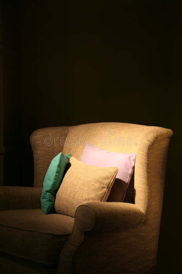Armchair And Pillows Royalty Free Stock Image