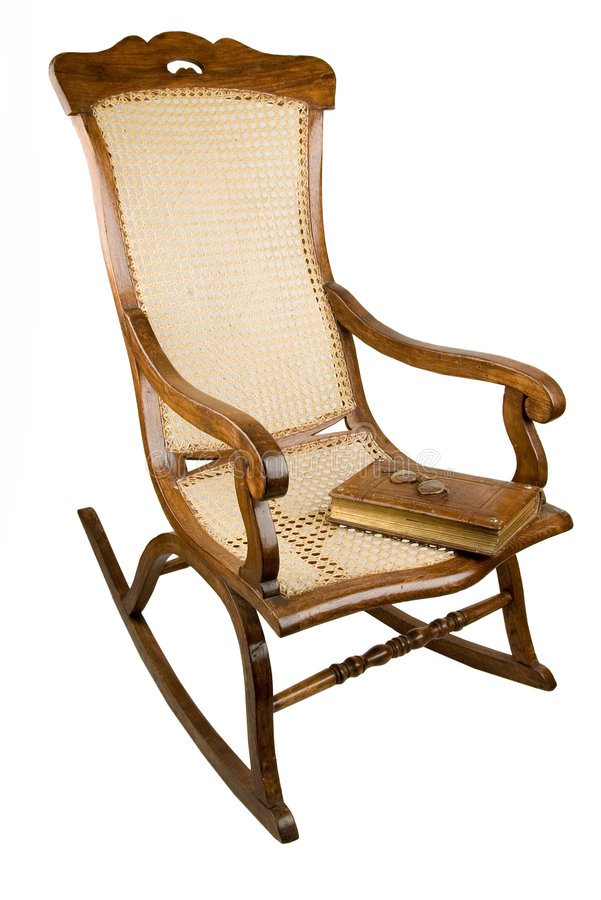 armchair-rocking chair royalty free stock photo
