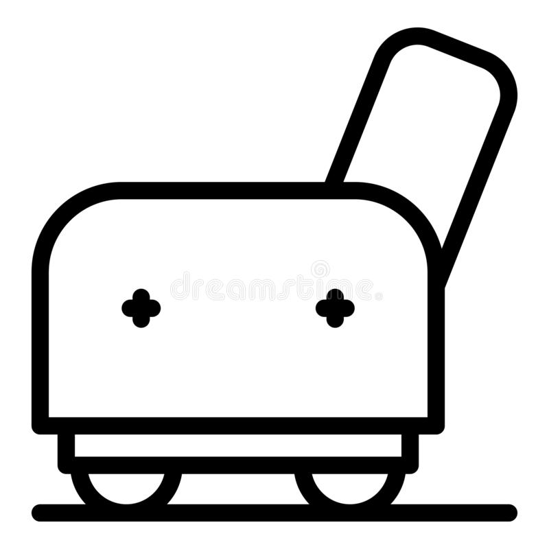 Armchair side icon, outline style vector illustration